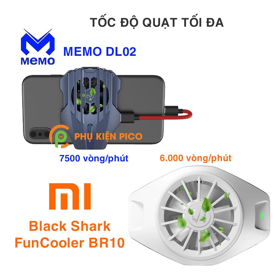 Memo-DL02-va-Black-Shark-FunCooler-BR10-4 So sánh 2 sản phẩm quạt tản nhiệt điện thoại có sò lạnh Memo DL02 và Xiaomi Black Shark FunCooler BR10
