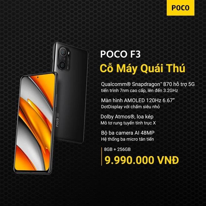 Poco-f3 POCO F3 và POCO X3 Pro ra mắt tại VN: Snapdragon 870/860, màn hình 120Hz, giá từ 9.99/6.99 triệu đồng