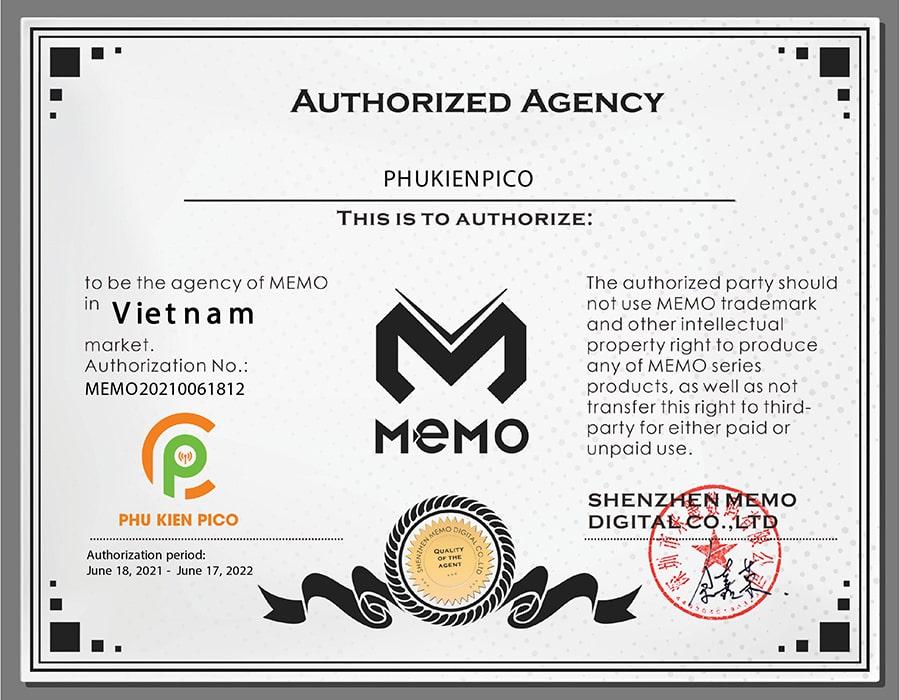 giay-chung-nhan-memo-min-1 Phụ kiện Pico đã trở thành đại lý phân phối chính hãng Memo tại Việt Nam